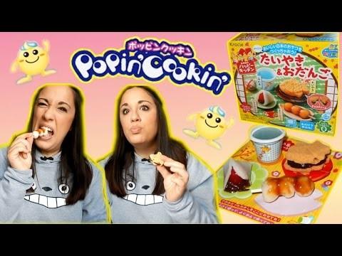 Popin Cookin TAIYAKI & ODANGO diy ITA (più assaggio) - たいやき&おだんご