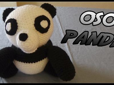Oso Panda a crochet