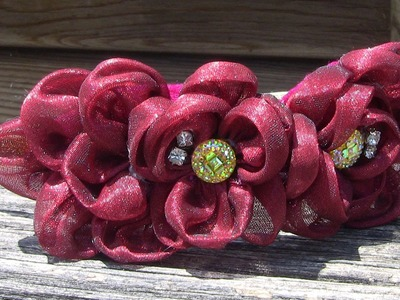 D.I.Y. Flores de organza cristal Passo a Passo- - fabric flowers- tutorial