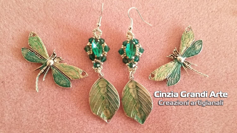 DIY - Modulo fogliolina, leaf earrings