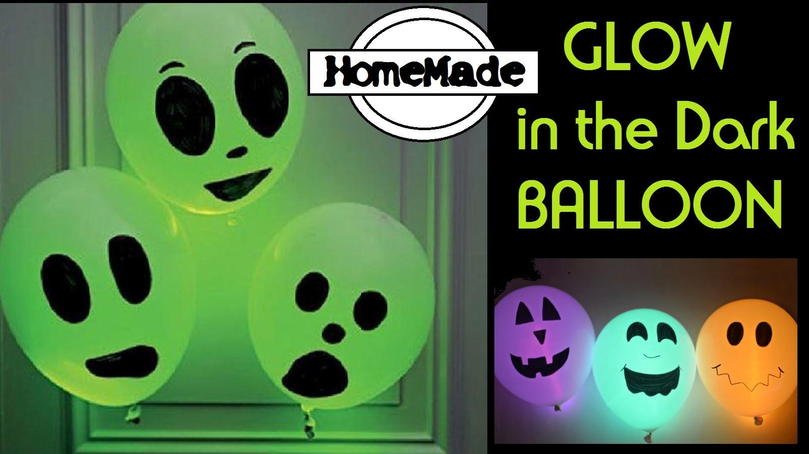 Glow in the dark Balloon! - DIY Halloween Party Ideas