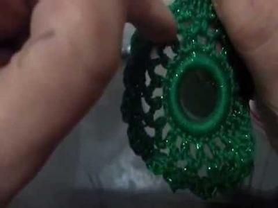 Corona natalizia crochet