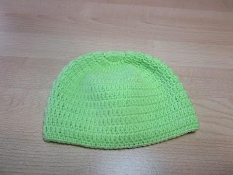 Crochet Uncinetto Cappellino Neonato Verde