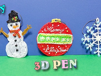 Christmas Ornaments - 3D Printing Pen.Scribbler V3-DIY Tutorial