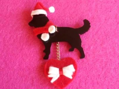 Handmade Christmas Gift Idea with Pet Dog Charm (idea regalo Natale Ciondolo cane)