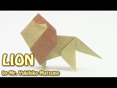 Origami LION Simple  by Mr. Yukihiko Matsuno  - Yakomoga Origami tutorial