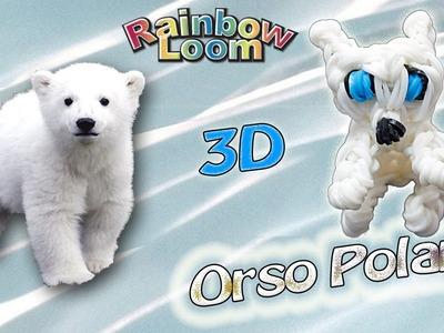 Orso Polare con elastici Rainbow Loom. Bear 3D Charm Loom Bands Tutorial