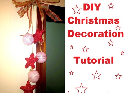 DIY decorazione natalizia fai da te -ghirlanda per la casa - christmas decorations