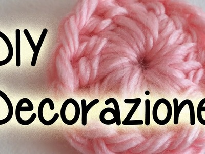 Tutorial DECORAZIONE per la casa principianti. DIY UNCINETTO