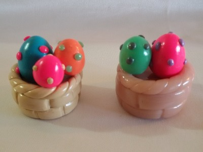 Tutorial fimo : cestino uova pasquali
