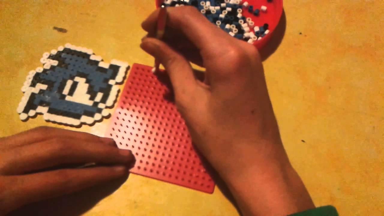 DIY Pyssla Hama beads simbolo di Sonic