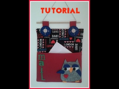 Porta posta tutorial ( cucito creativo )