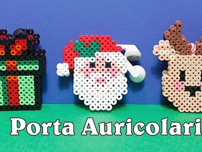 3D Porta Auricolari.Cuffie Natalizi  Hama Beads.Pyssla - Diy Tutorial