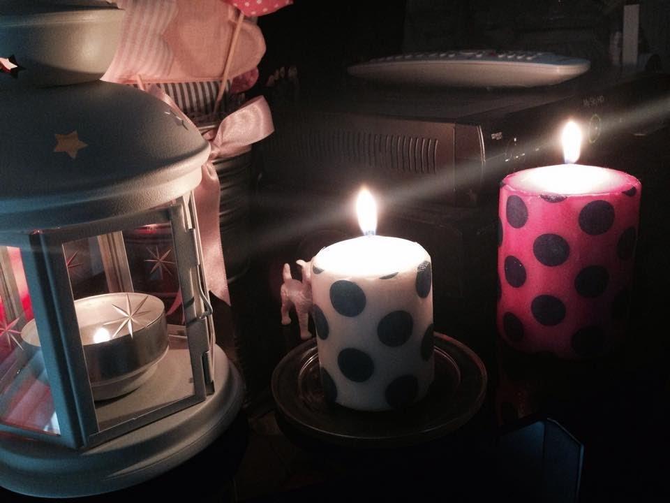 DIY- decorare una candela con un tovagliolo