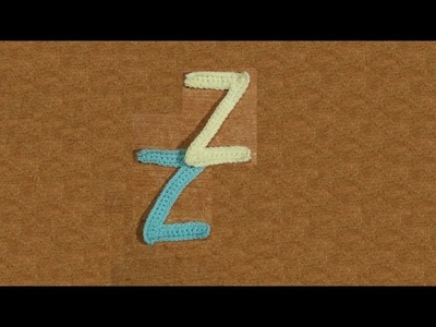 "Alfabeto all'uncinetto ""la lettera Z -  tutorial -  letter  Z crochet"