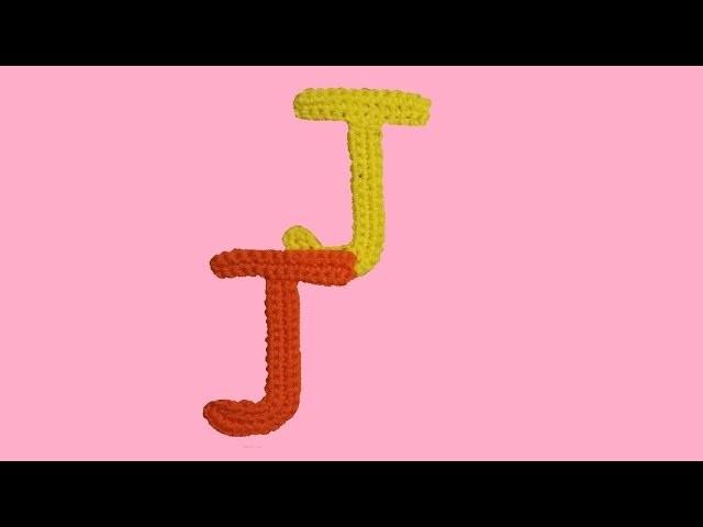 """Alfabeto all'uncinetto """"la lettera J -  tutorial -  letter J crochet"""