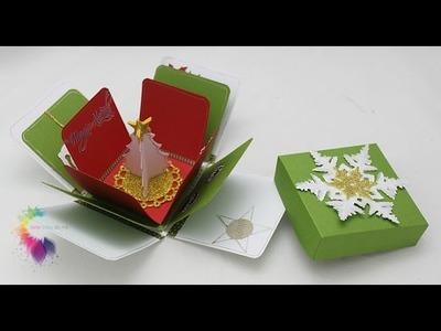 Christmas Explosion Box Tutorial-Scatola con sorpresa Natalizia-Scrapbooking Tutorial