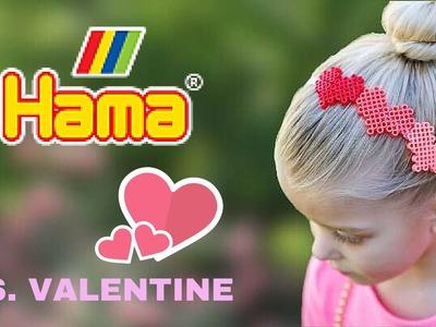 Hama beads CERCHIETTO tutorial 3d CUORI san valentino san valentine diy pyssla perler beads
