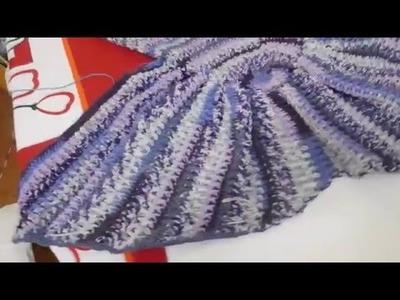 Manta Sirena a Crochet parte 2 (ZURDO)
