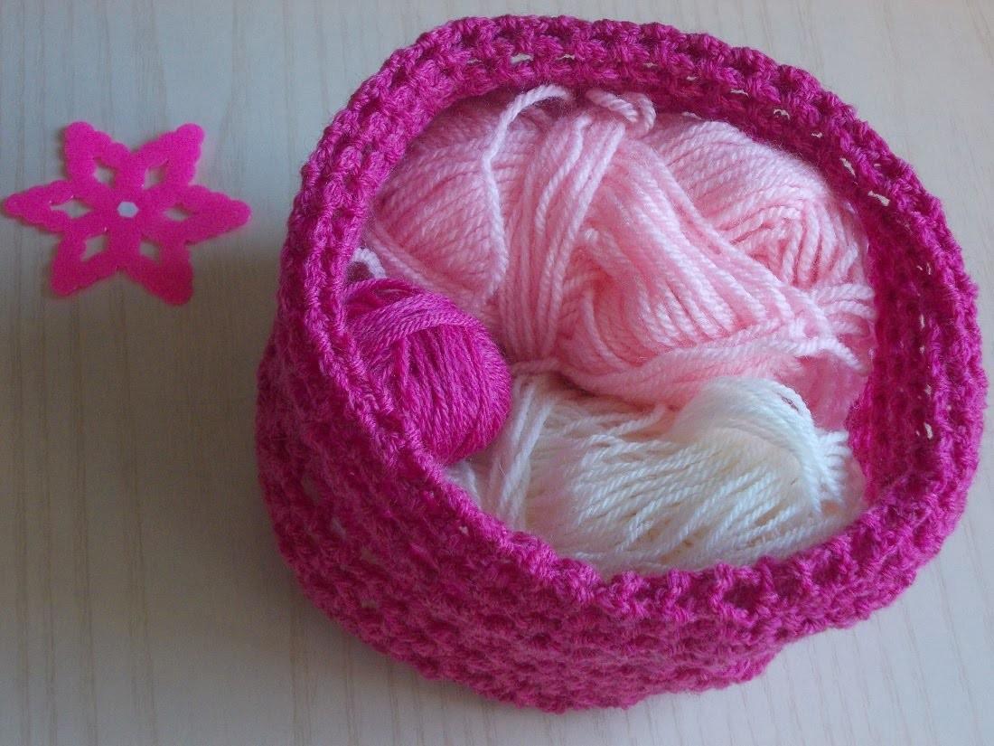 Uncinetto | Cestino Rigido | Porta Lavoro | Crochet Basket