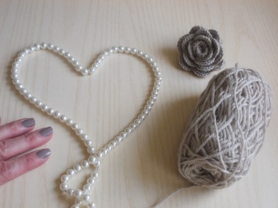 Uncinetto | Lavorazione con le Perle | Lana e Perle | Collana | Crochet  Yarn and Pearls | Necklace