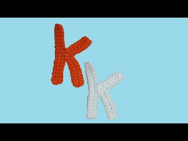 "Alfabeto all'uncinetto ""la lettera K"" -  tutorial -  letter K crochet"