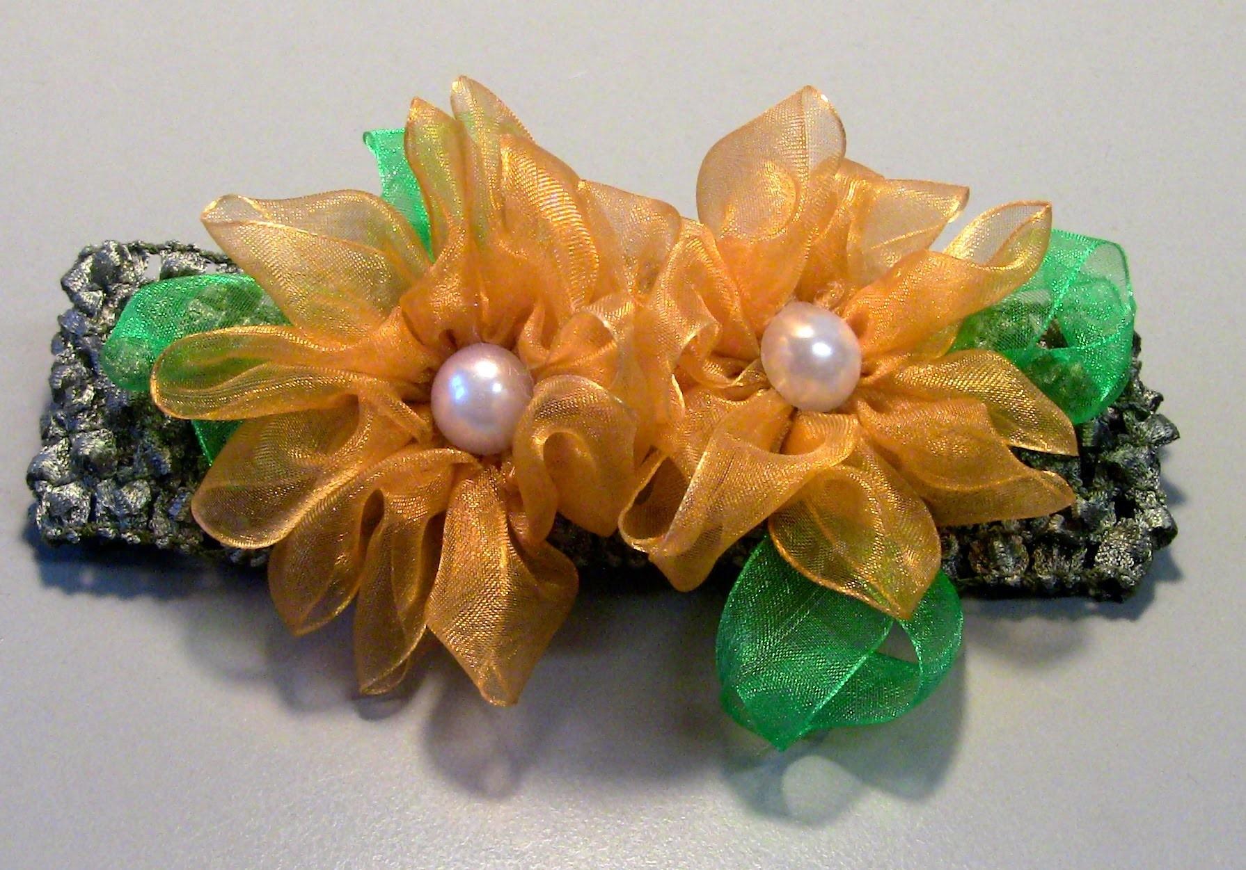 Novo modelo de flor de organza Passo a Passo-D.I.Y -flowers