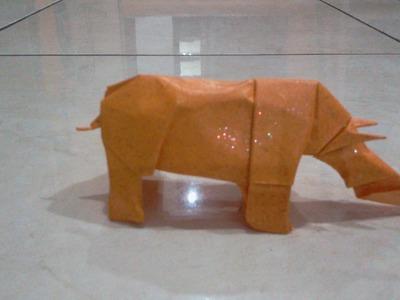 Origami Rhino (lionel albertino)
