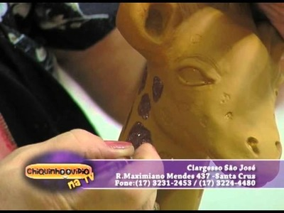Sandra Rossi Girafa de Gesso