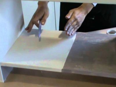 Tutorial TO-DO. Decorazione mobiletto con colori, tessuto e stencil