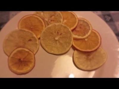 Tutorial: come essiccare fette arance al microonde DIY