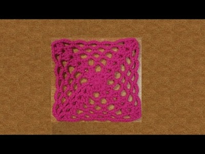 Piastrella all'uncinetto grid&cross - tutorial passo a passo - crochet granny square