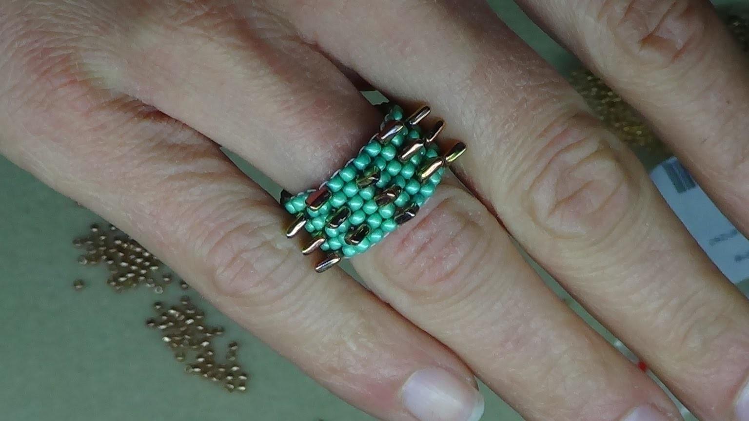 Tutorial anello con scaglie di drago