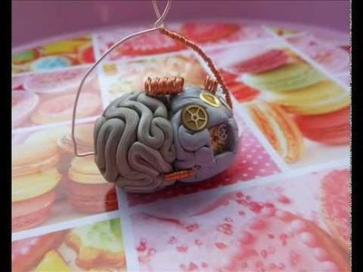 Tutorial cervello steampunk (polymer clay tutorial)