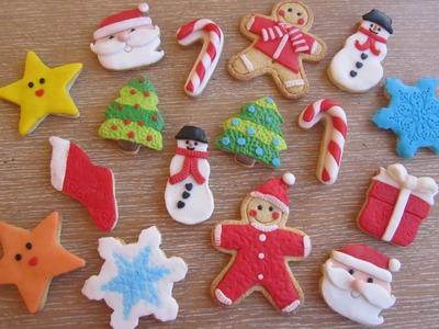 Come decorare dei biscotti di natale, natalizi con pasta di zucchero