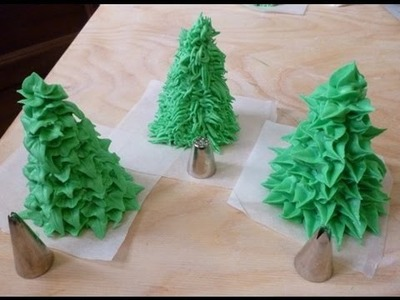 Decorare con glassa reale (alberi) - Royal icing decorations (trees) by ItalianCakes
