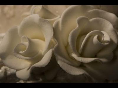 Decorazioni in pasta di zucchero rose ,TUTORIAL PASSO PASSO