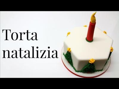Torta decorata natalizia in pasta di zucchero by ItalianCakes