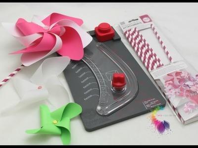 We R Memory Keepers Pinwheel Punch Board Tutorial-Girandole di carta Fai da te-Product Review