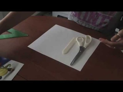 Come tagliare il cartoncino senza taglierina.How to cut without paper cutter