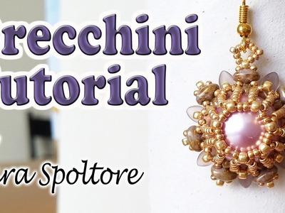 Come fare orecchini con perline - Tutorial perline - Come realizzare orecchini fai da te