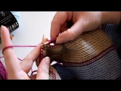 Come lavorare le asole del Pfeilraupe - How to knit Pfeilraupe eyelets -