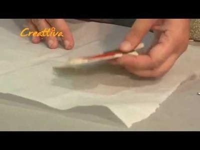 Angioletto Natalizio in feltro con l'utilizzo della fliselina