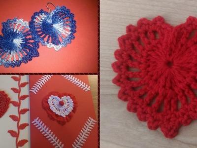 Cuore all'uncinetto - decorazione per San Valentino