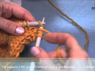 Adriafil tutorial: come lavorare la maglia gettata a diritto