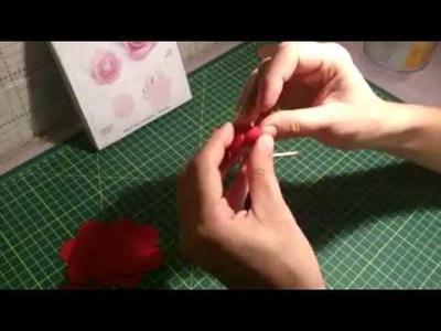 Come creare una rosa 3D con fustella sizzix - n. 656545