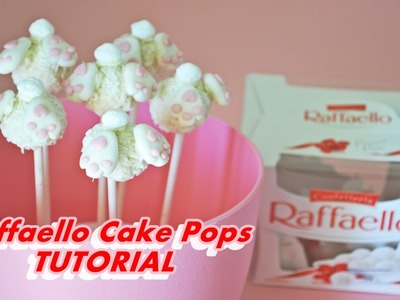 How to make EASTER BUNNY RAFFAELLO CAKE POPS FONDANT - tutorial lecca lecca coniglietto