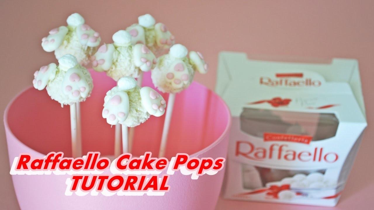 How to make EASTER BUNNY RAFFAELLO CAKE POPS FONDANT - tutorial lecca lecca coniglietto