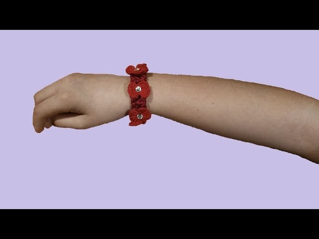 Braccialetto all'uncinetto tutorial passo a passo - crochet bracelet - pulsera en crochet