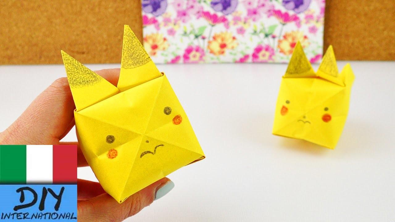 Origami Pikachu | come piegare e colorare un dolcissimo Pokemon